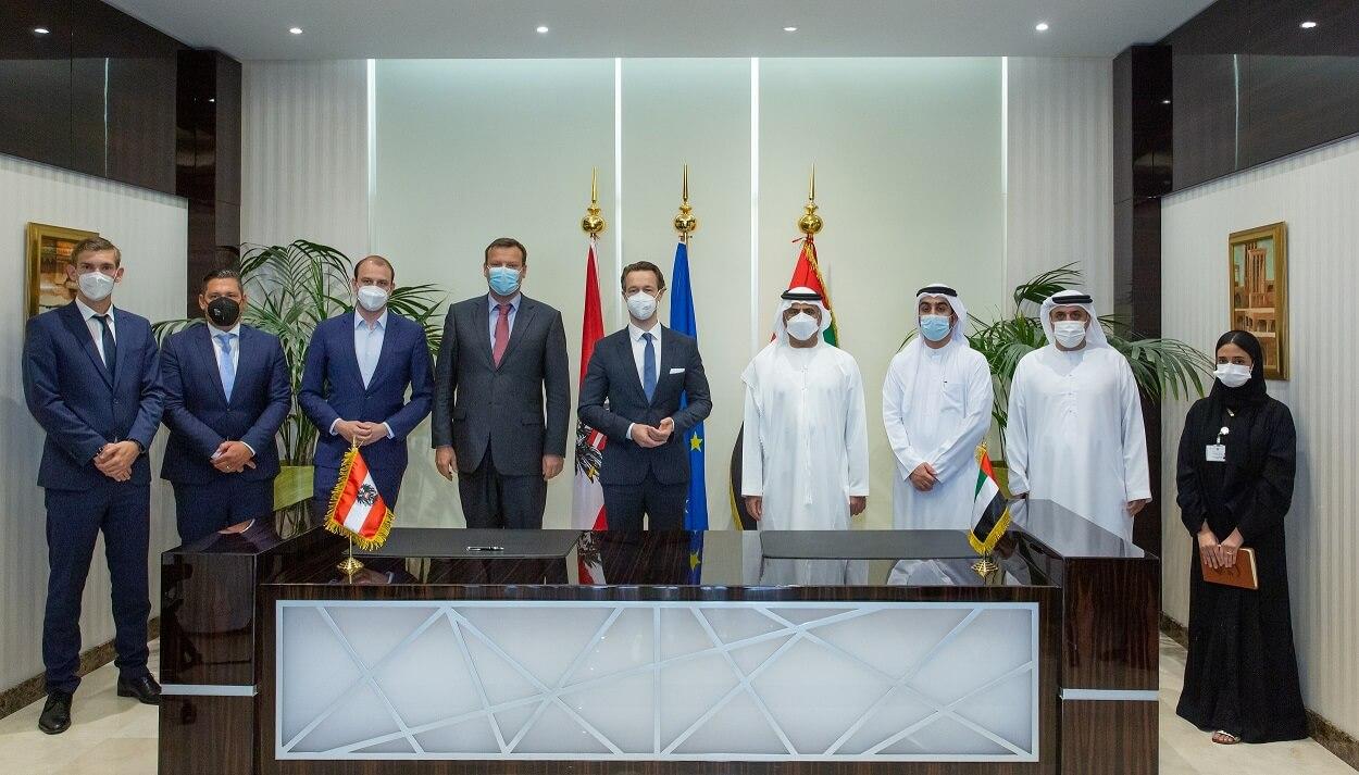 Официальная встреча делегации Испании и ОАЭ
